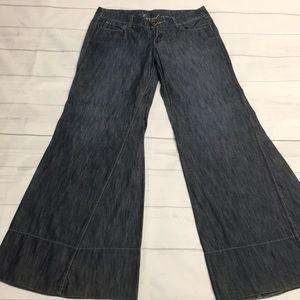 Level 99 Bell Bottom Super Wide Bottom Jean
